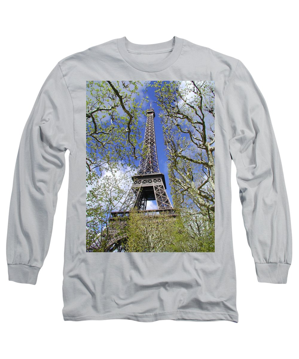 Paris Long Sleeve T-Shirt featuring the photograph April In Paris by Tom Reynen