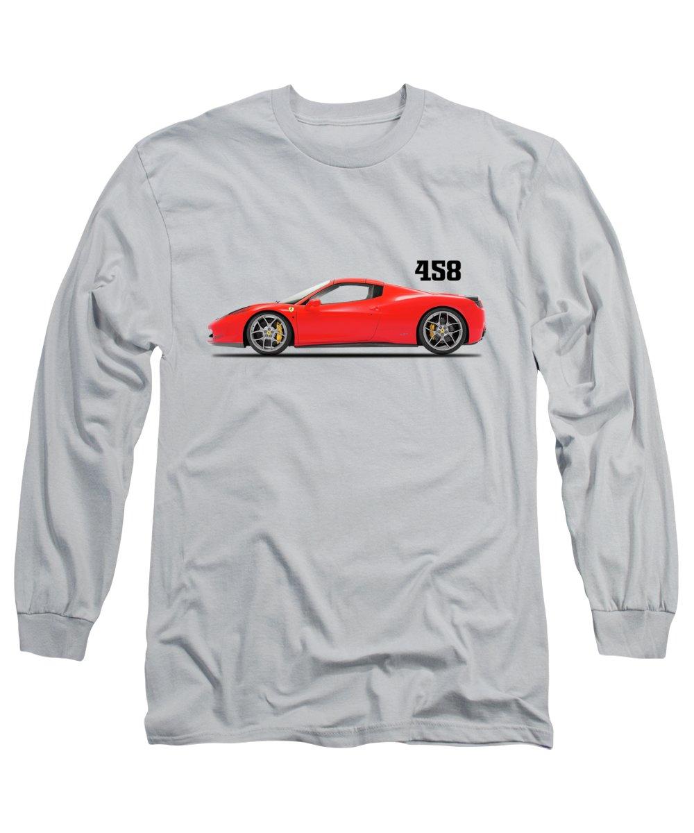Ferrari 458 Long Sleeve T-Shirt featuring the photograph Ferrari 458 Italia by Mark Rogan