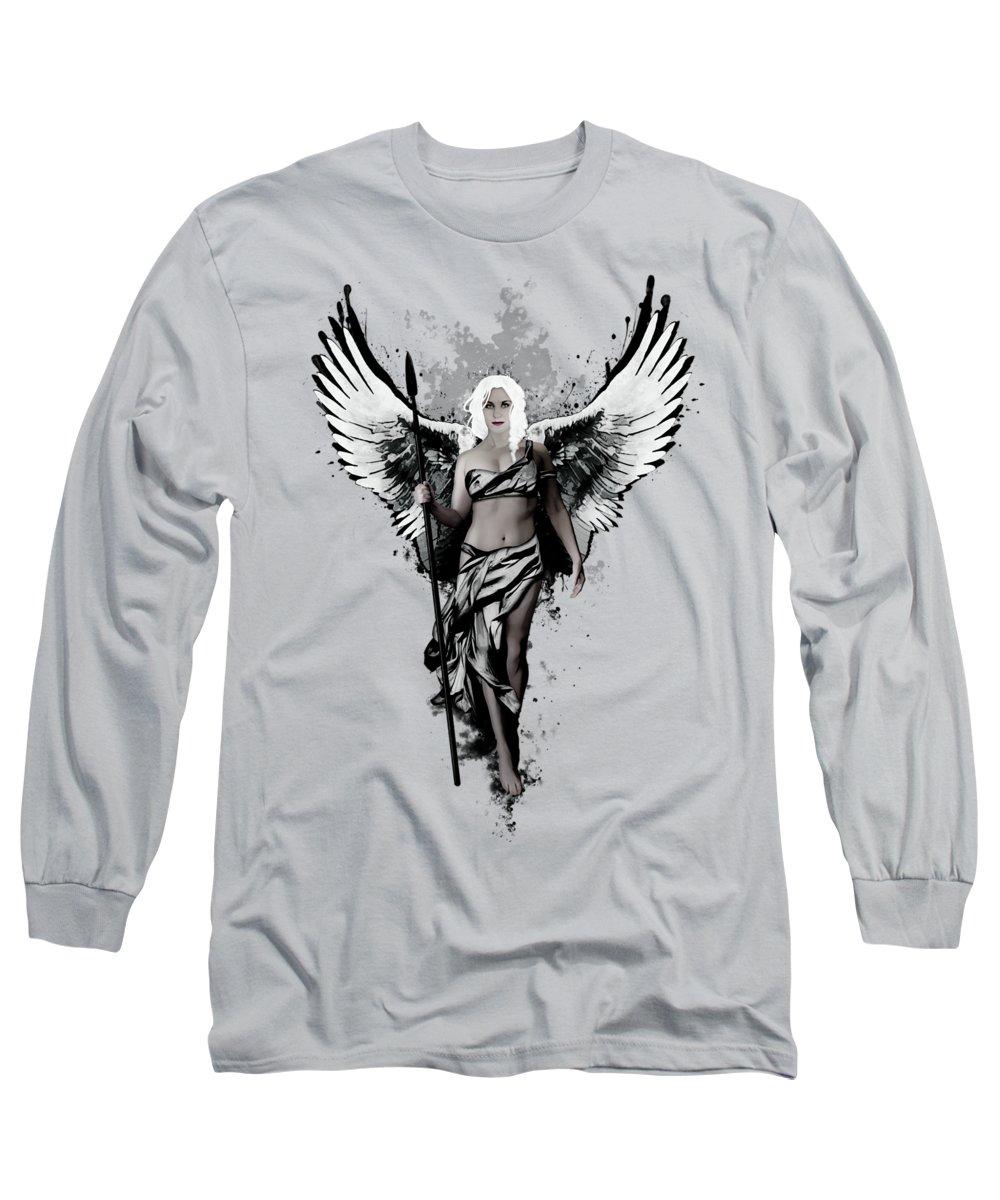Valkyrie Long Sleeve T-Shirt featuring the digital art Valkyrja by Nicklas Gustafsson