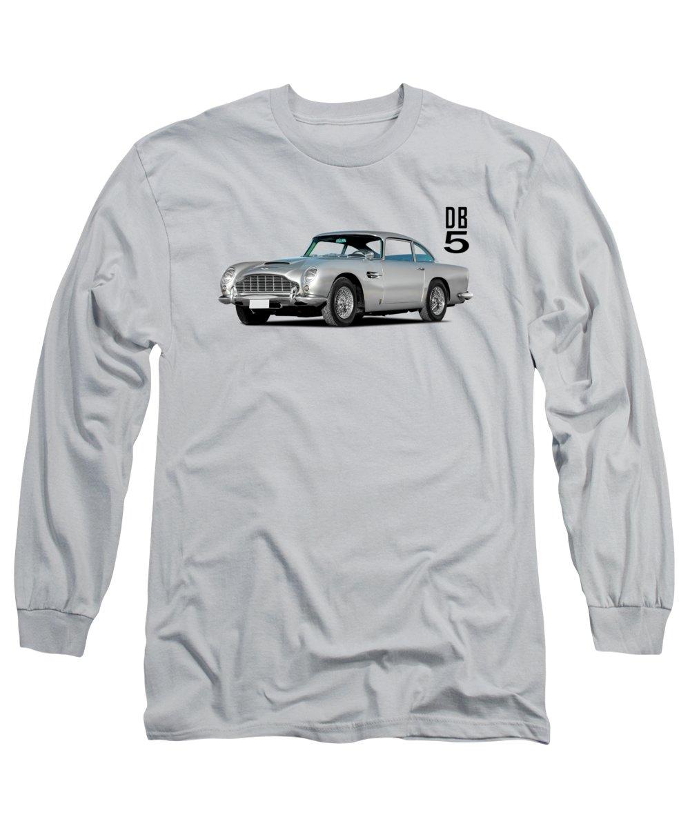 Aston Martin Db5 Long Sleeve T-Shirt featuring the photograph Aston Martin Db5 by Mark Rogan