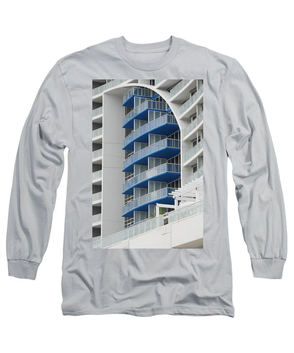 Architecture Long Sleeve T-Shirt featuring the photograph Blue Bayu by Rob Hans