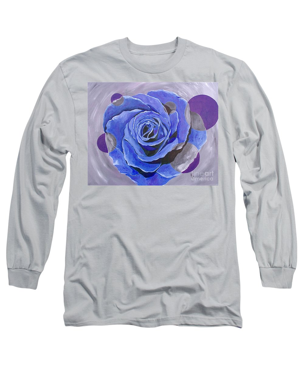Acrylic Long Sleeve T-Shirt featuring the painting Blue Ice by Herschel Fall