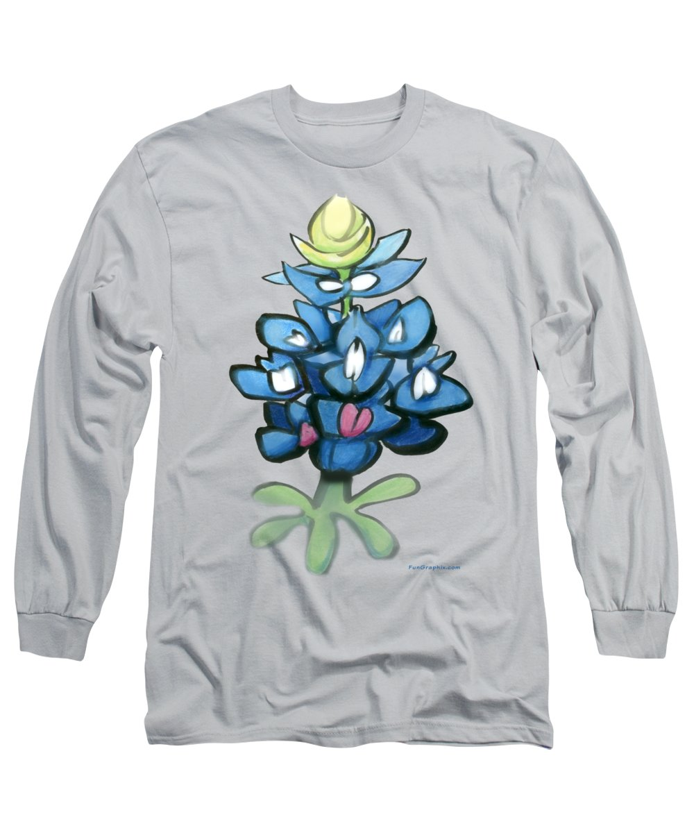 Bluebonnet Long Sleeve T-Shirt featuring the digital art Bluebonnet by Kevin Middleton