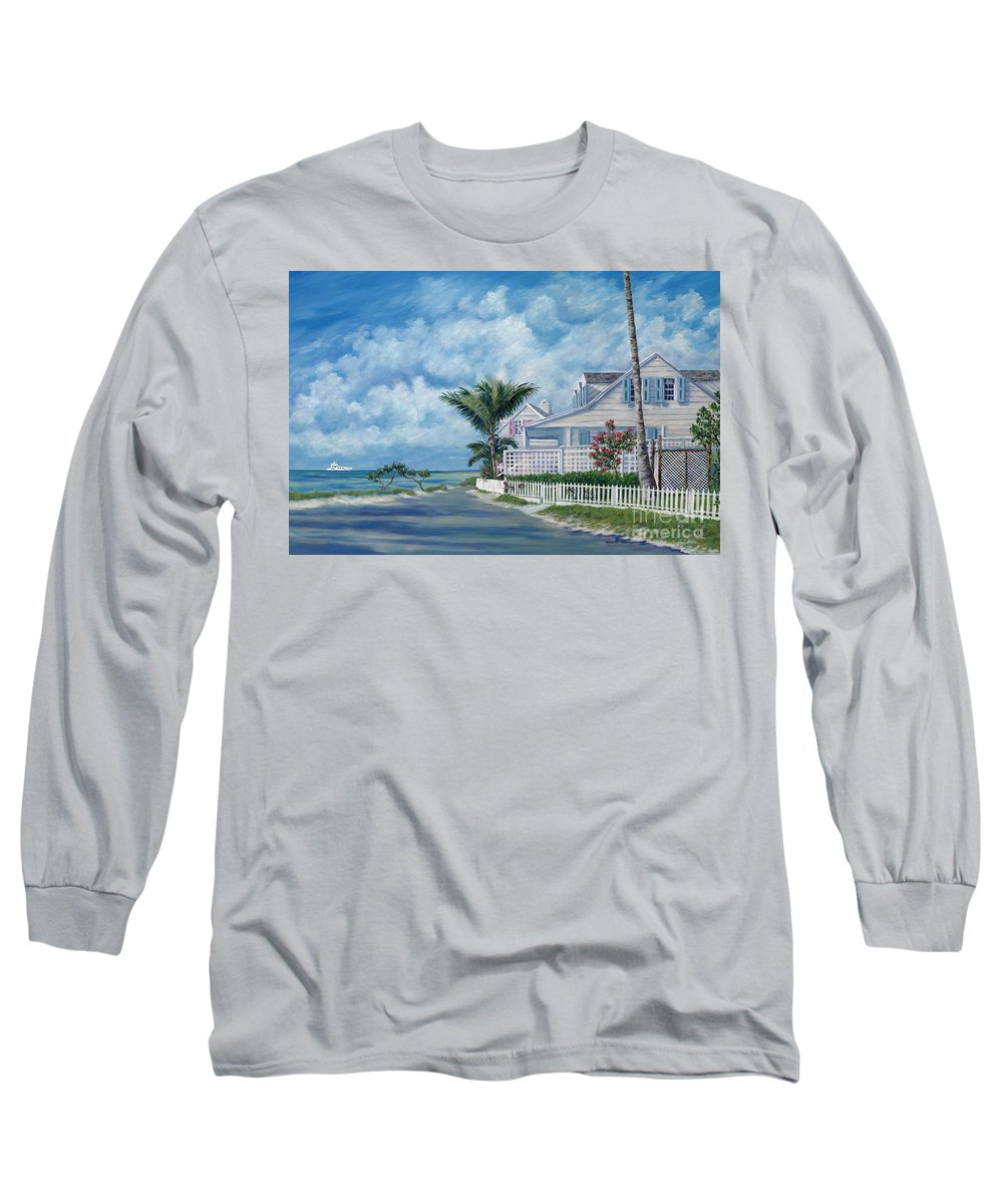Harbor Island Long Sleeve T-Shirt featuring the painting Briland Breeze by Danielle Perry