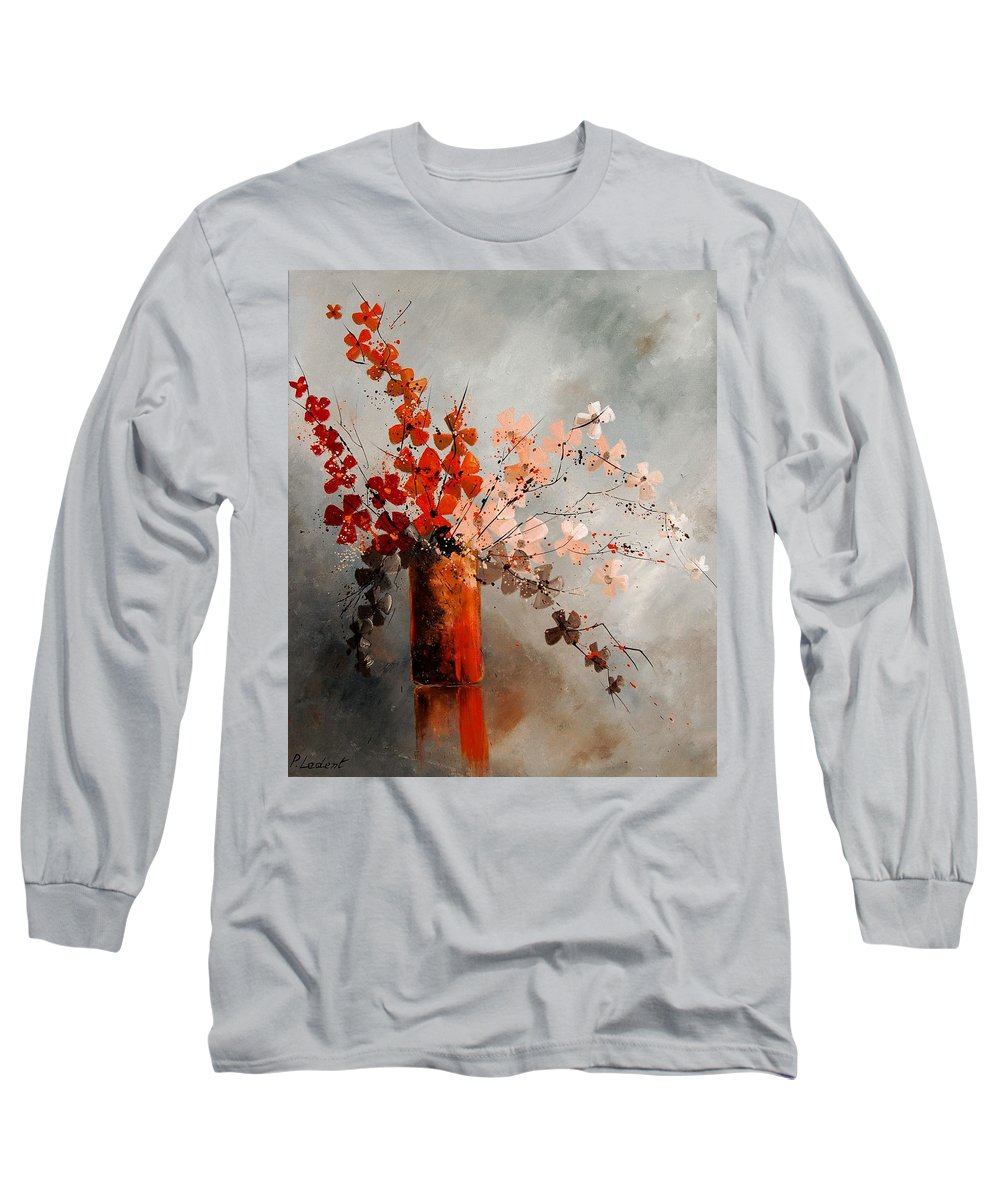 Flowers Long Sleeve T-Shirt featuring the painting Bunch 670908 by Pol Ledent