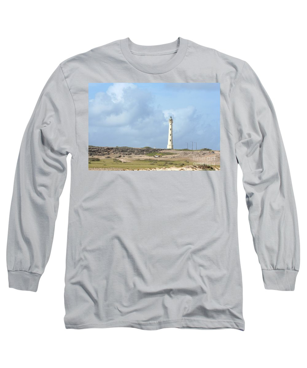 Aruba Long Sleeve T-Shirt featuring the photograph California Lighthouse by Thomas Marchessault