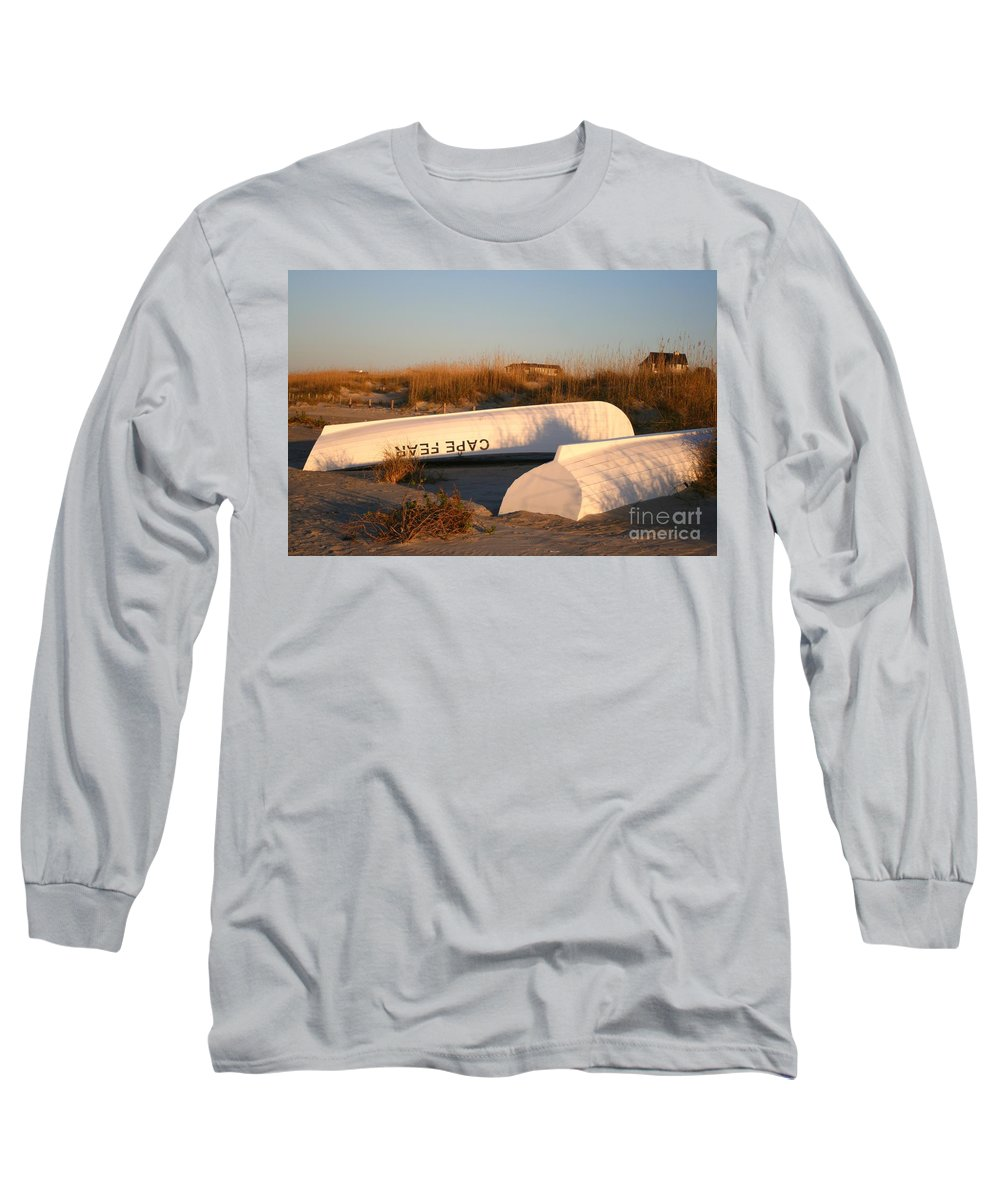 Boats Long Sleeve T-Shirt featuring the photograph Cape Fear Boats by Nadine Rippelmeyer