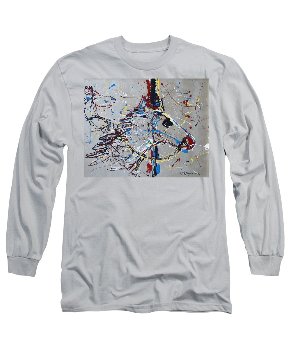 Carousel Horse Long Sleeve T-Shirt featuring the mixed media Carousel Horse by J R Seymour
