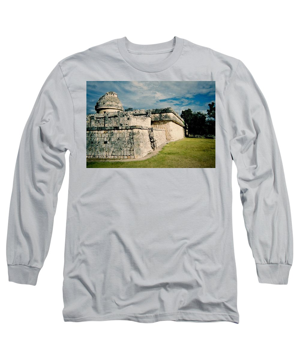Chitchen Itza Long Sleeve T-Shirt featuring the photograph Chichen Itza 1 by Anita Burgermeister