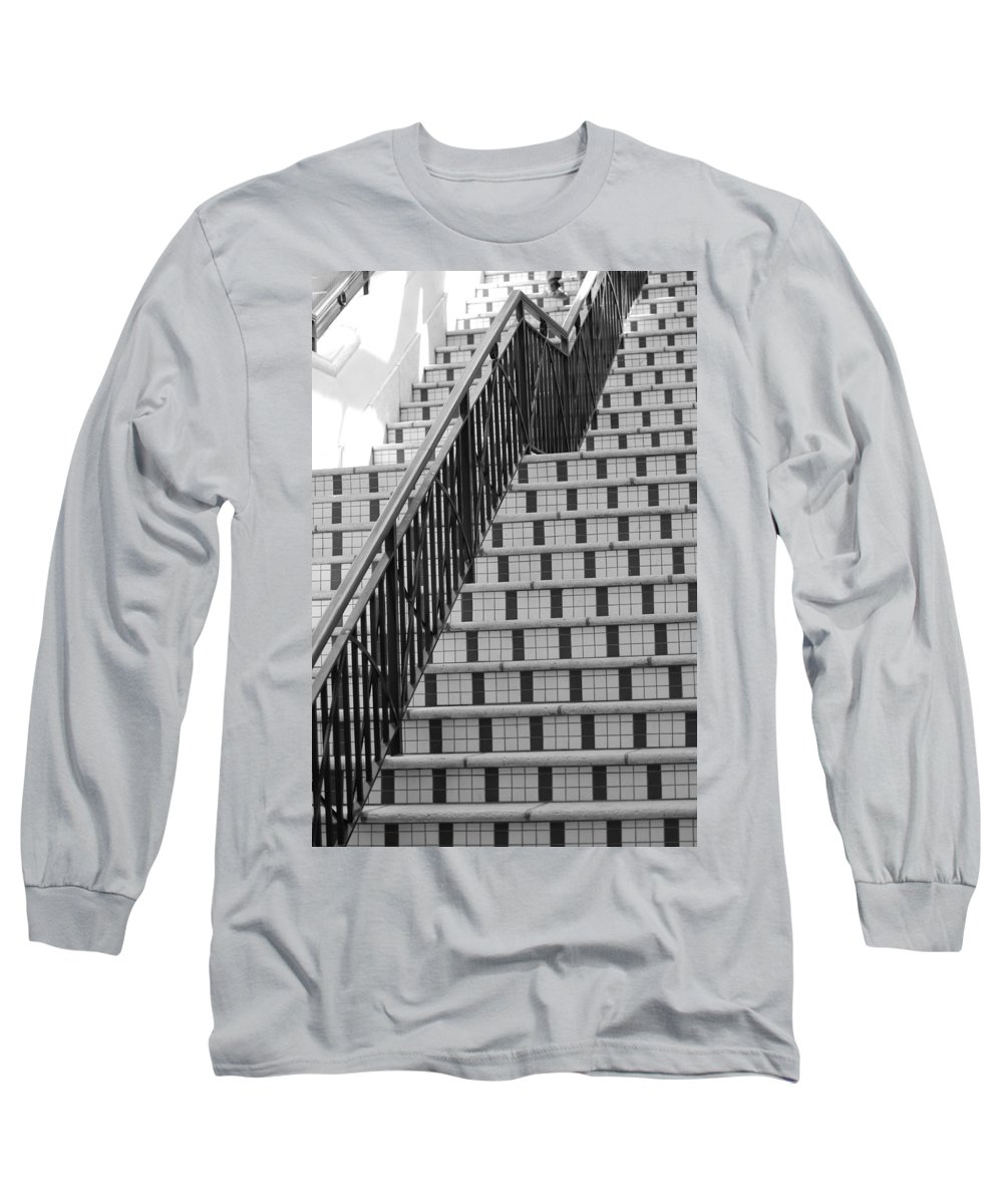 Architecture Long Sleeve T-Shirt featuring the photograph City Stairs II by Rob Hans