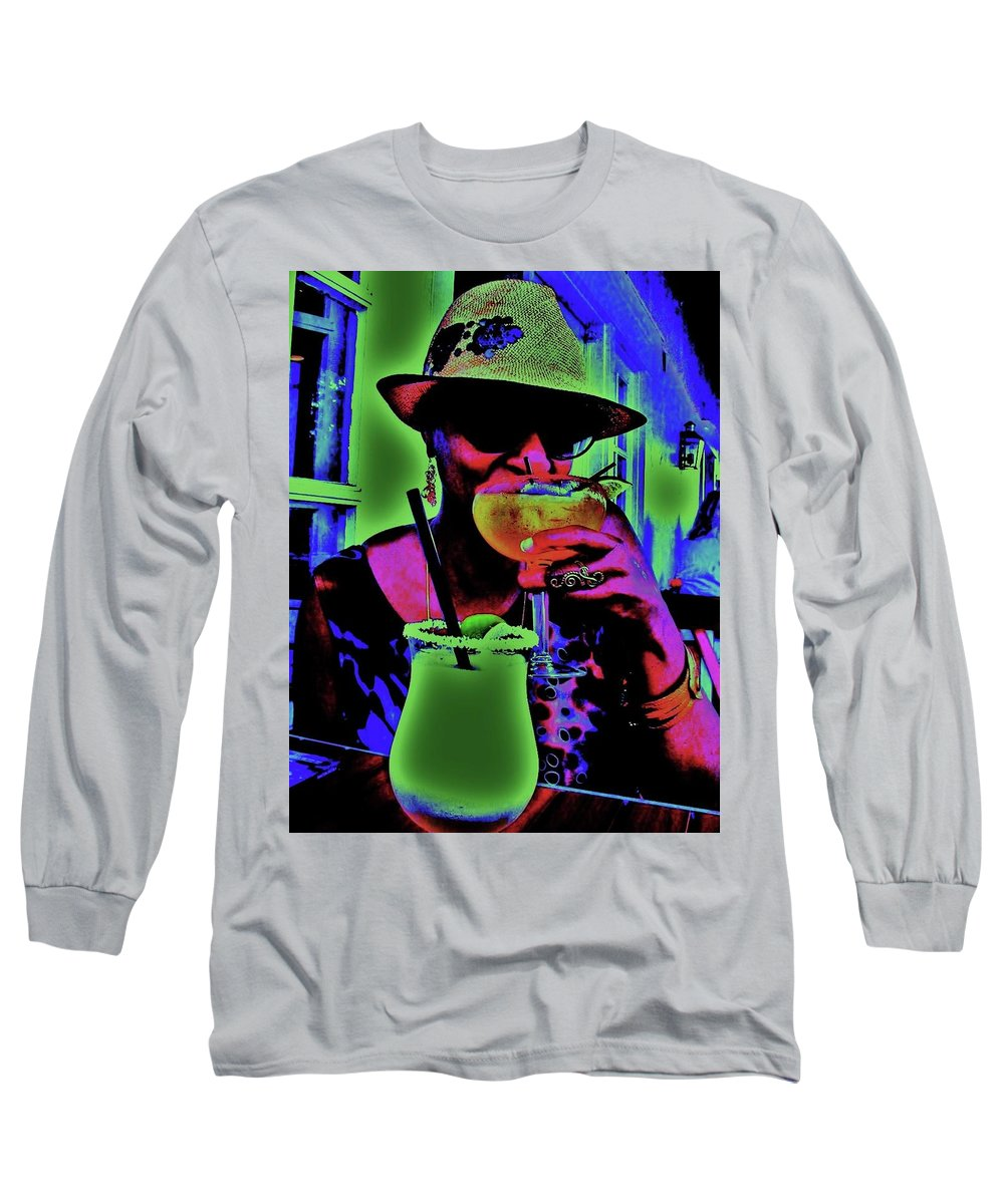 Cocktails Long Sleeve T-Shirt featuring the photograph Cocktails Anyone by Diana Dearen