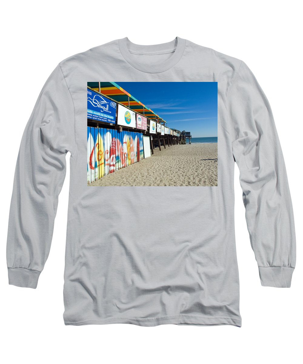 Florida; Cocoa; Beach; Atlantic; Ocean; East; Space; Coast; Brevard; Central; Pier; Surf; Surfing; F Long Sleeve T-Shirt featuring the photograph Cocoa Beach Flotida by Allan Hughes