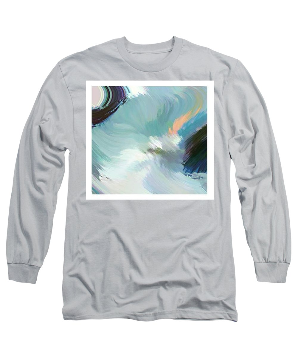 Landscape Digital Art Long Sleeve T-Shirt featuring the digital art Color Falls by Anil Nene