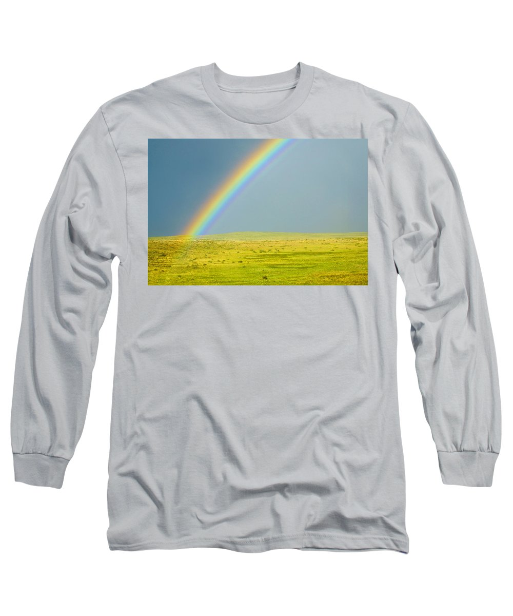 Colorado Long Sleeve T-Shirt featuring the photograph Colorado Rainbow by Marilyn Hunt