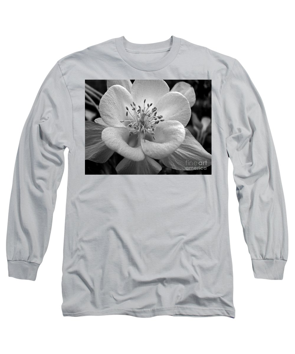 Flowers Long Sleeve T-Shirt featuring the photograph Columbine by Amanda Barcon