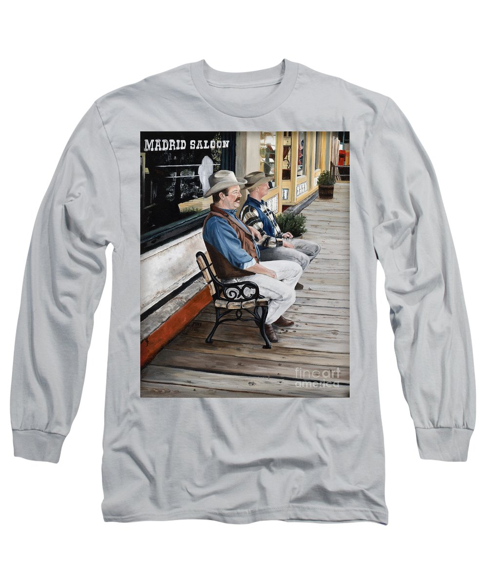 Friends Long Sleeve T-Shirt featuring the painting Compadres by Mary Rogers
