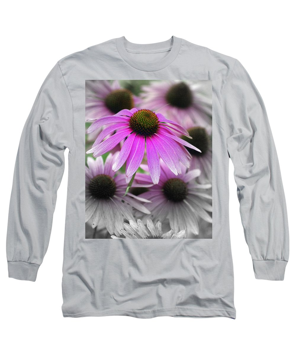 Flowers Long Sleeve T-Shirt featuring the photograph Coneflowers by Marty Koch