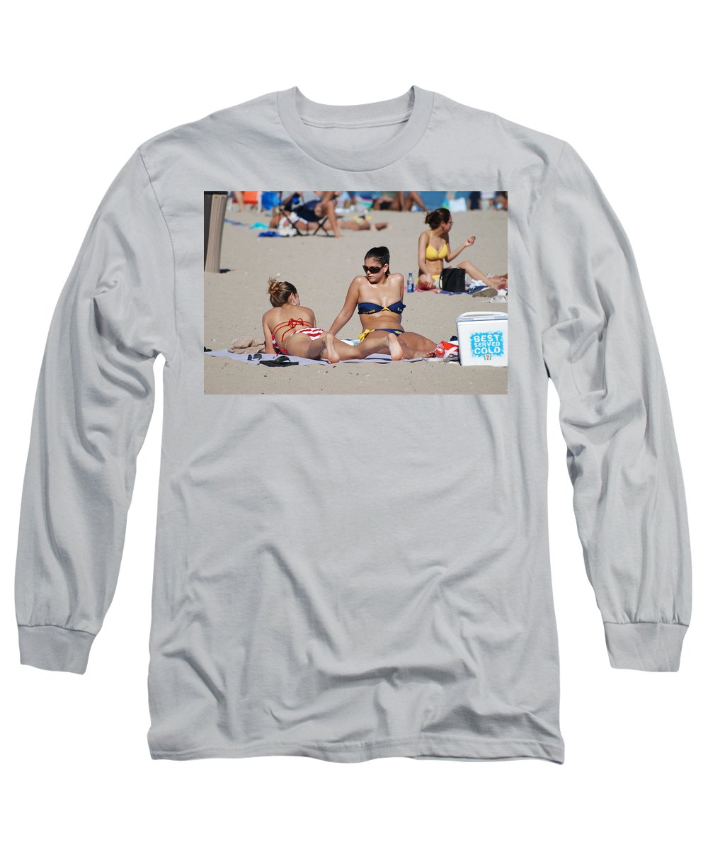 Girls Long Sleeve T-Shirt featuring the photograph Corona Strips by Rob Hans