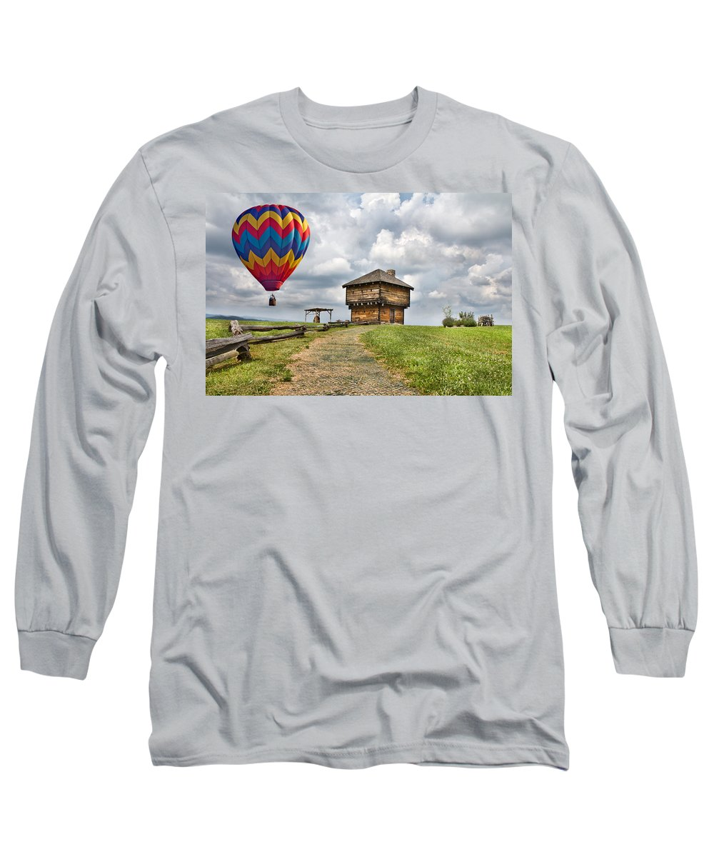 Hot Long Sleeve T-Shirt featuring the digital art Country Cruising by Betsy Knapp