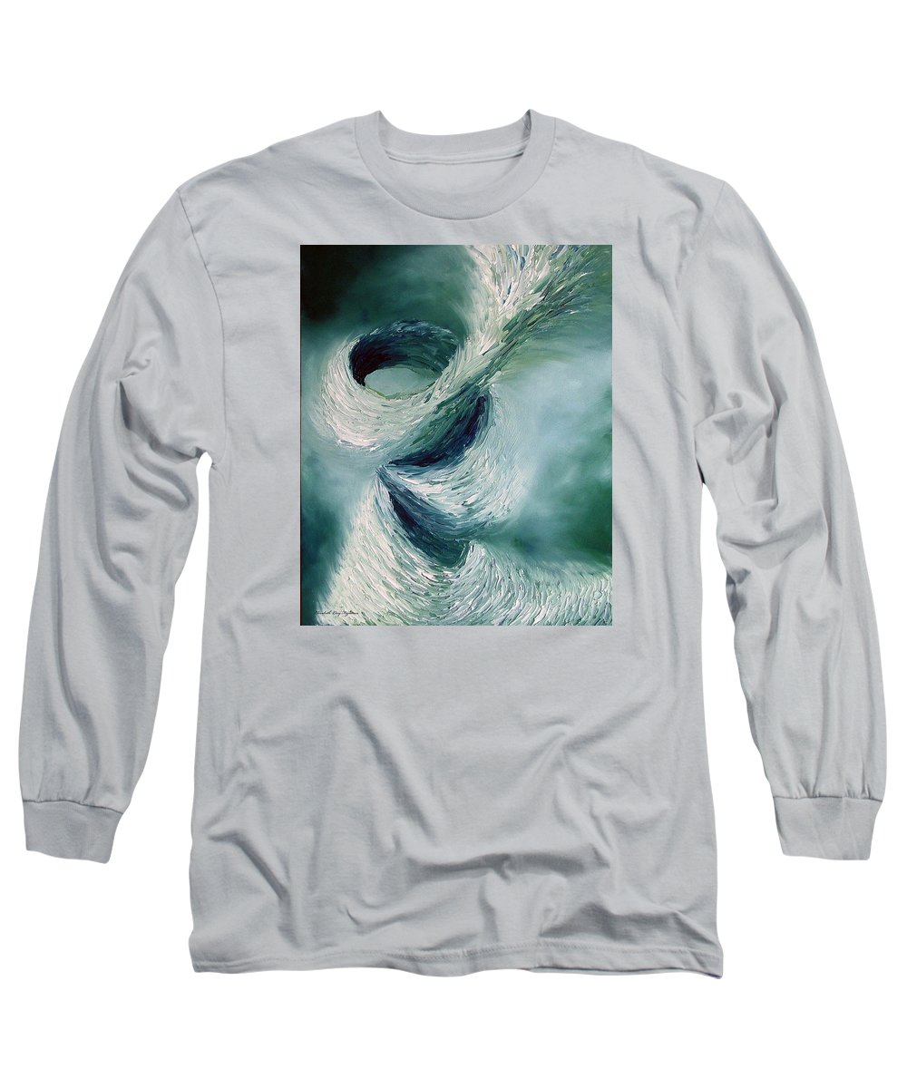 Tornado Long Sleeve T-Shirt featuring the painting Cyclone by Elizabeth Lisy Figueroa