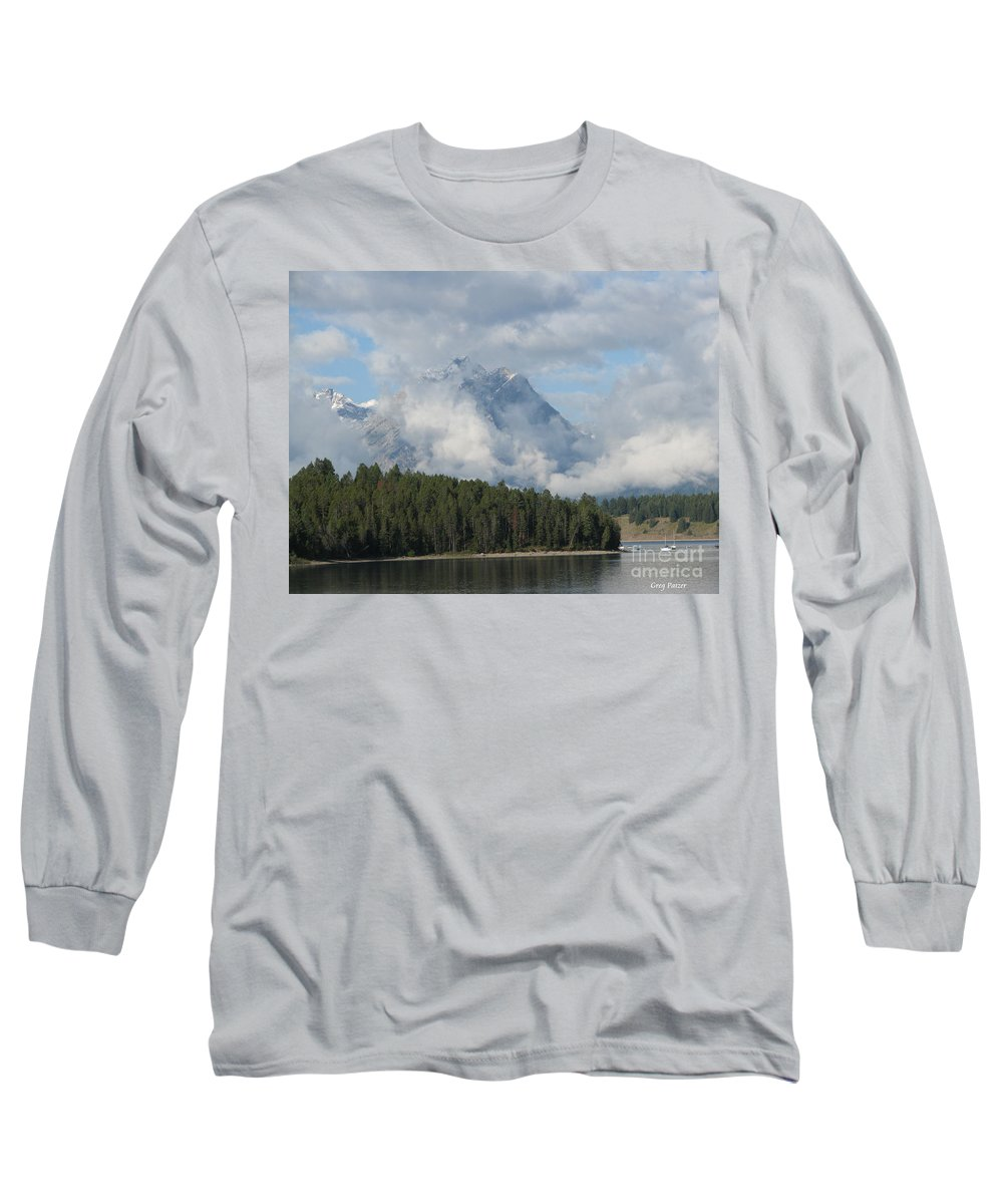 Patzer Long Sleeve T-Shirt featuring the photograph Dam Clouds by Greg Patzer