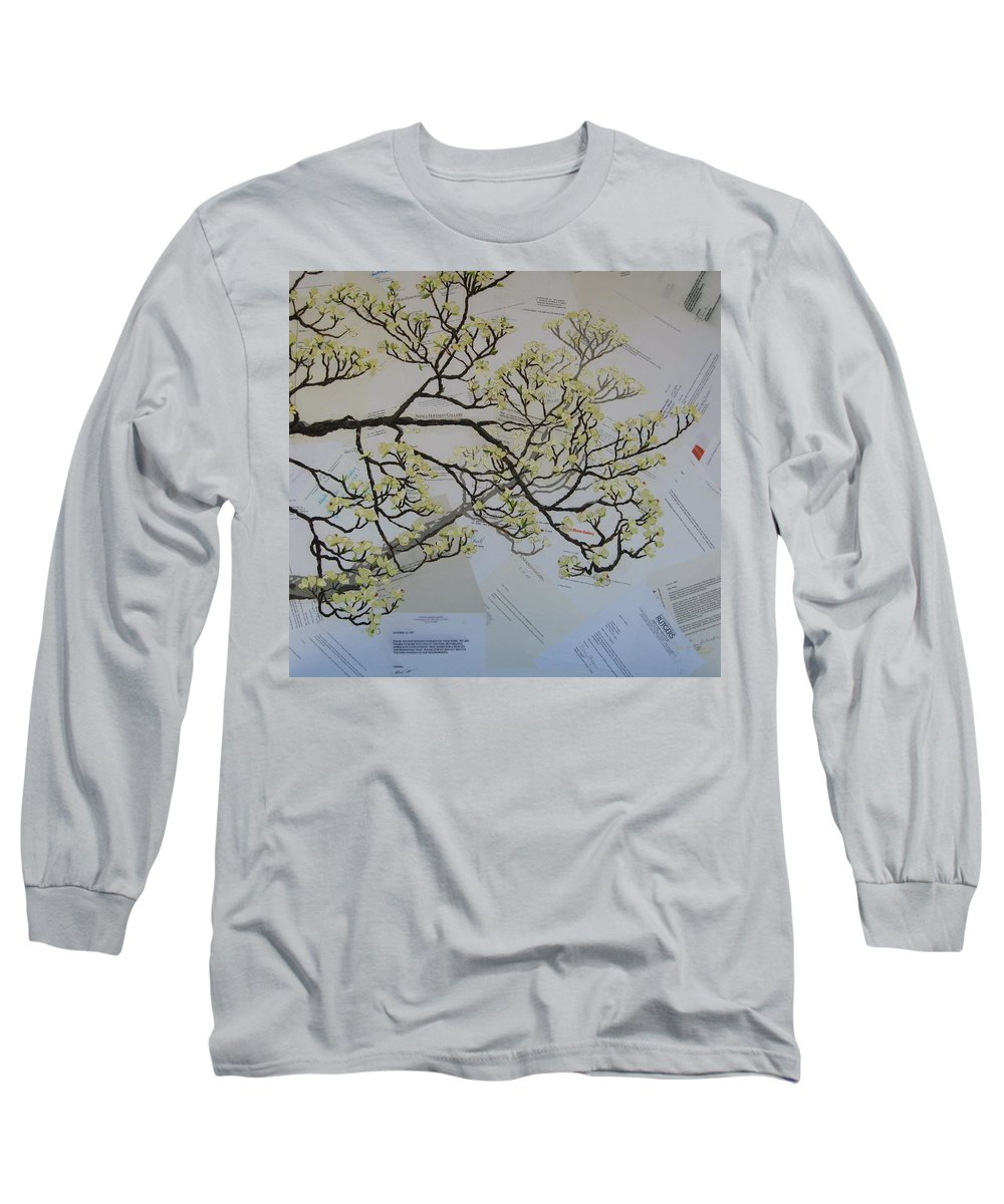 Collage Long Sleeve T-Shirt featuring the painting Dear Artist by Leah Tomaino