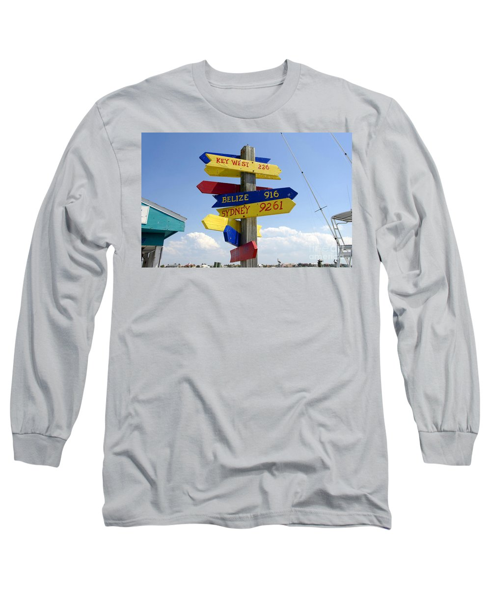 Paradise Long Sleeve T-Shirt featuring the photograph Directions To Paradise by David Lee Thompson