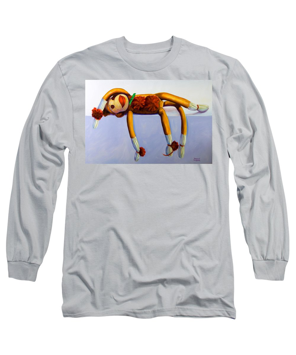 Diva Long Sleeve T-Shirt featuring the painting Diva Made Of Sockies by Shannon Grissom
