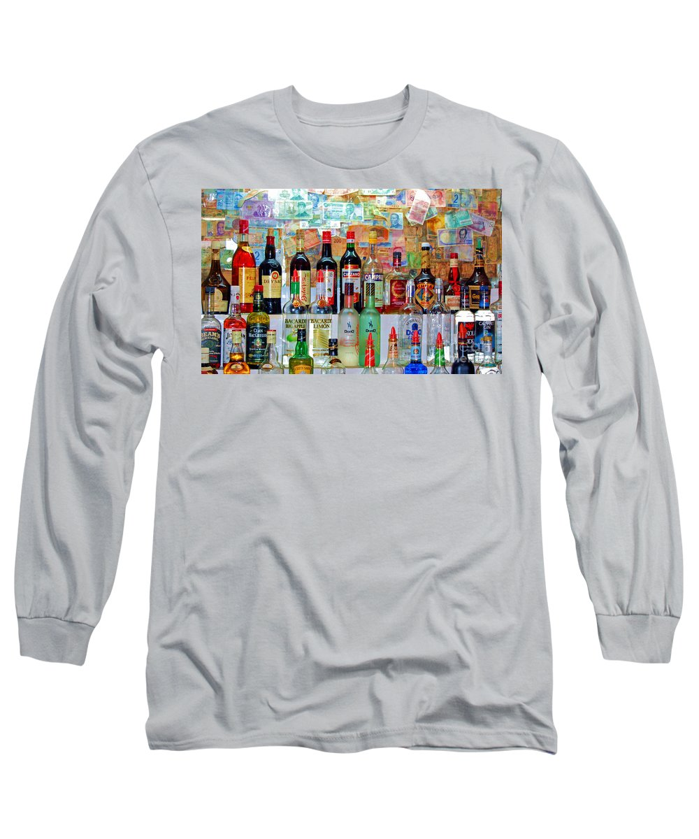 Liquor Long Sleeve T-Shirt featuring the photograph Don Q by Debbi Granruth