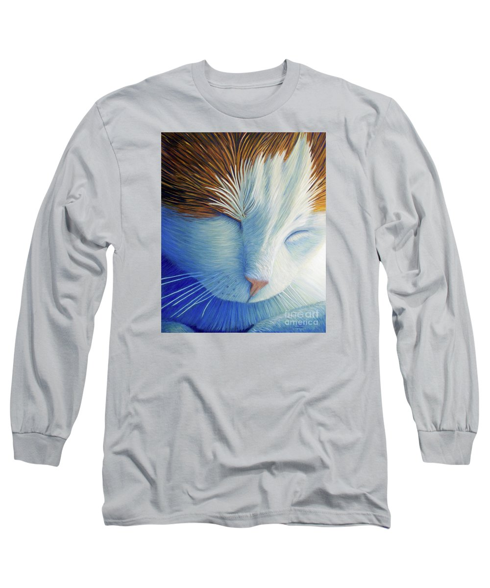 Cat Long Sleeve T-Shirt featuring the painting Dream Within A Dream by Brian Commerford