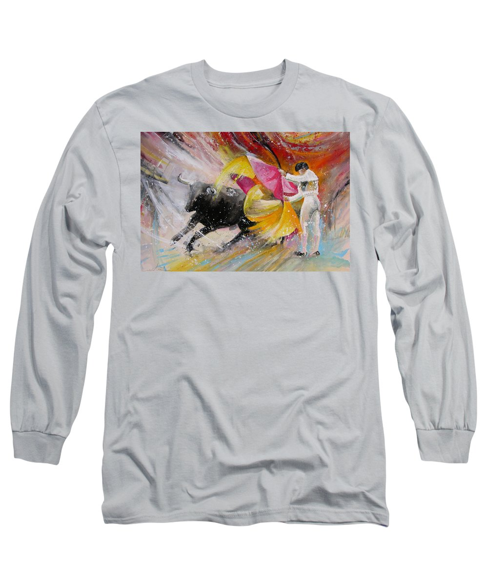 Animals Long Sleeve T-Shirt featuring the painting Elegance by Miki De Goodaboom