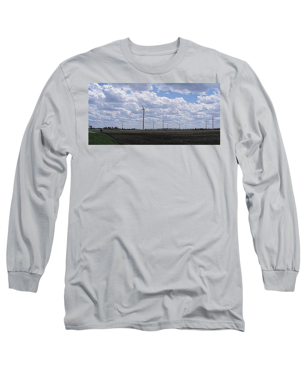 Wind Long Sleeve T-Shirt featuring the photograph Etched In Stone by Ed Smith