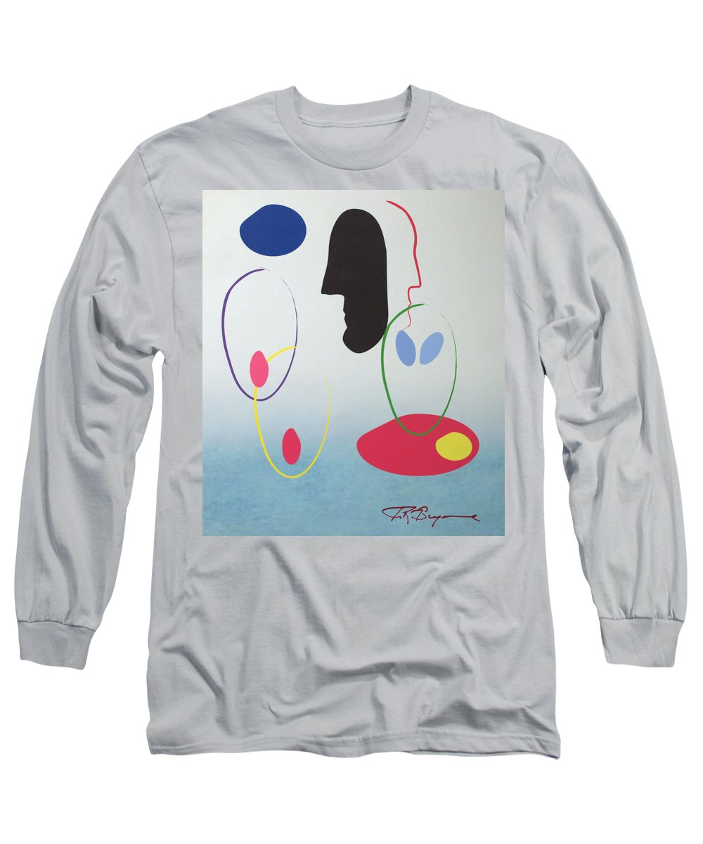 Digital Artwork Long Sleeve T-Shirt featuring the digital art Everyones Talking And No One's Listening by J R Seymour