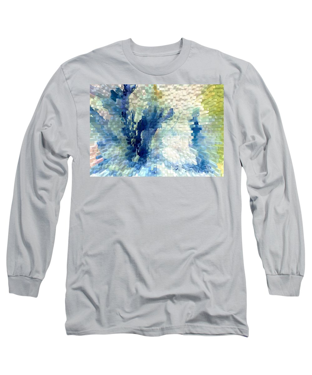 Abstract Long Sleeve T-Shirt featuring the painting Extrude by Steve Karol