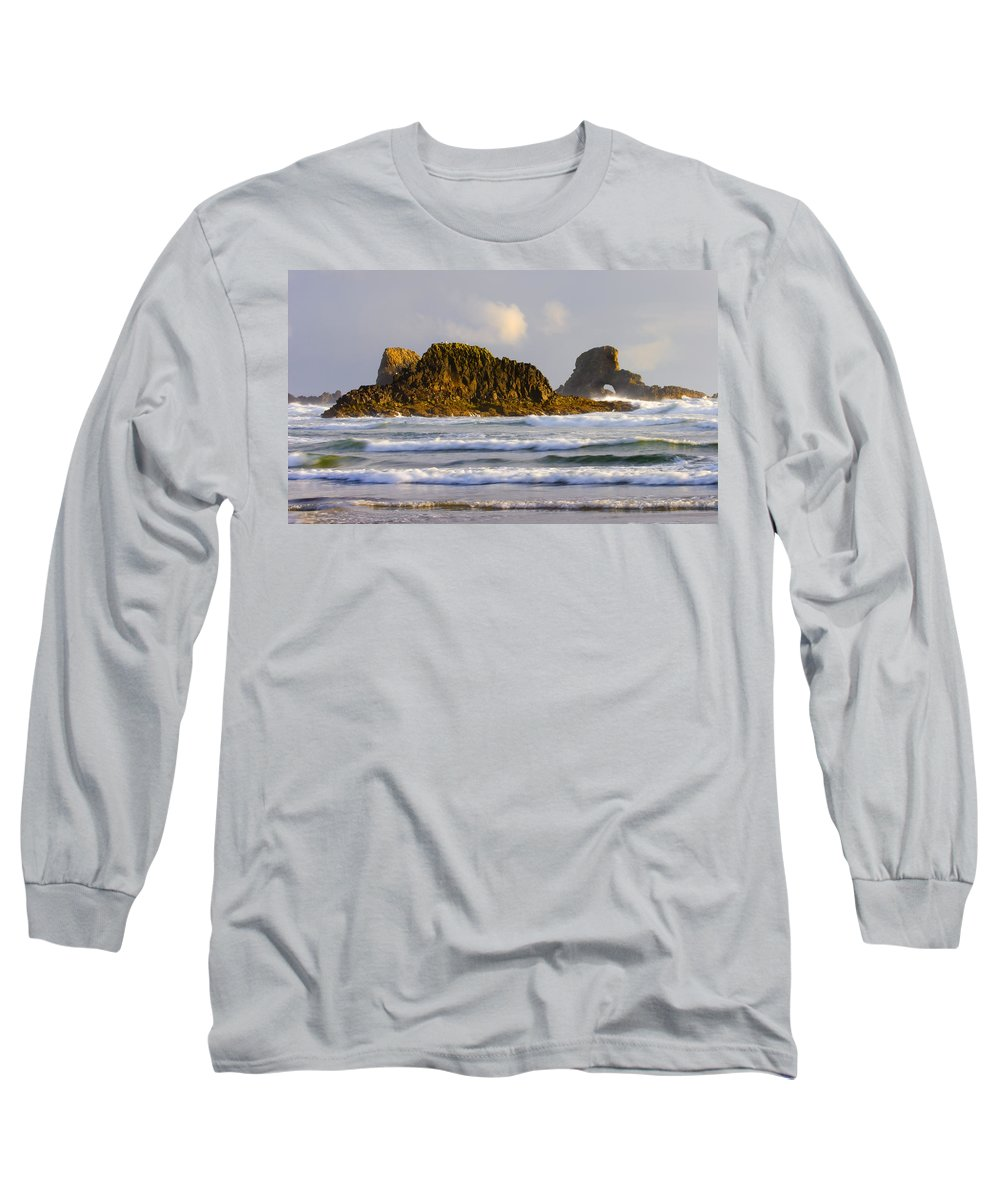 Seastacks Long Sleeve T-Shirt featuring the photograph Eye Of The Storm by Mike Dawson