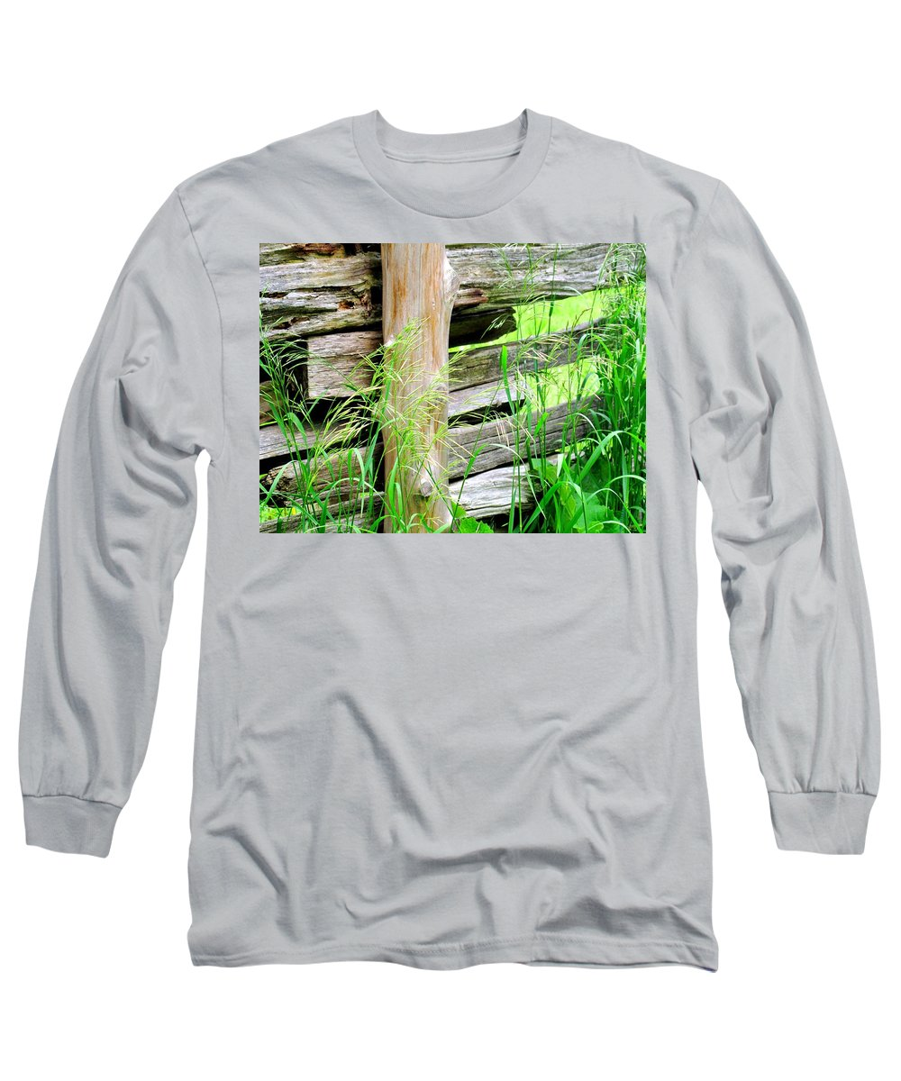 Fence Long Sleeve T-Shirt featuring the photograph Fence by Ian MacDonald