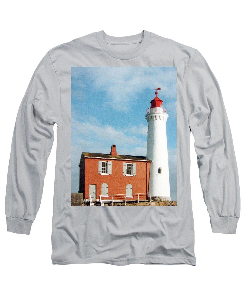 Fisgard Lighthouse Long Sleeve T-Shirt featuring the photograph Fisgard Lighthouse by Will Borden