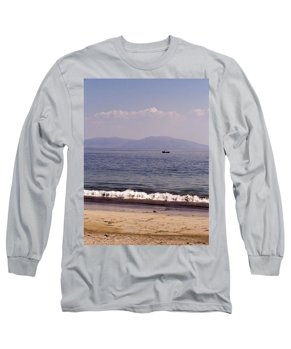 Irish Long Sleeve T-Shirt featuring the photograph Fishing Boat On Ventry Harbor Ireland by Teresa Mucha