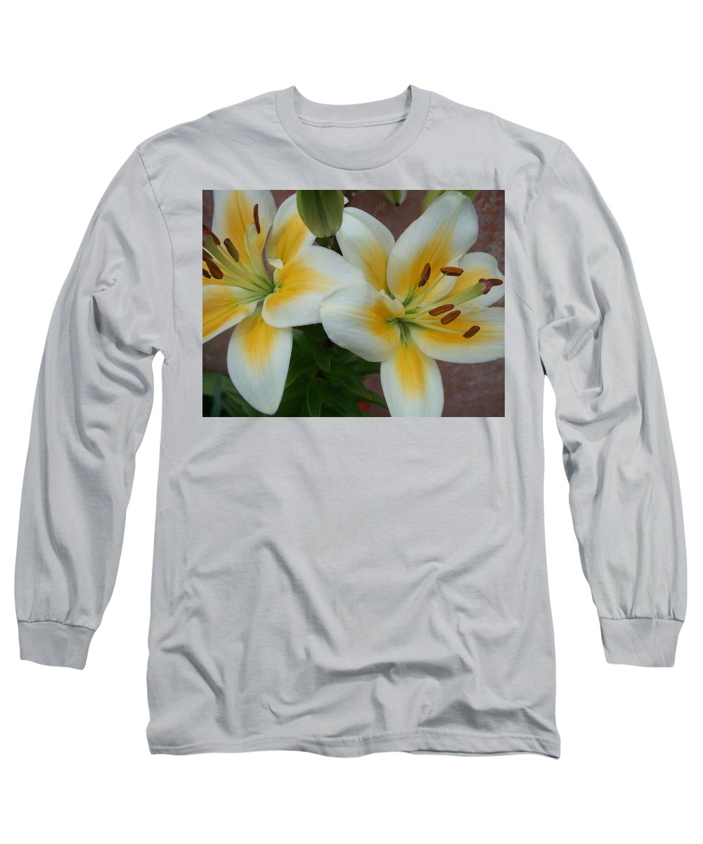 Flower Long Sleeve T-Shirt featuring the photograph Flower Close Up 5 by Anita Burgermeister