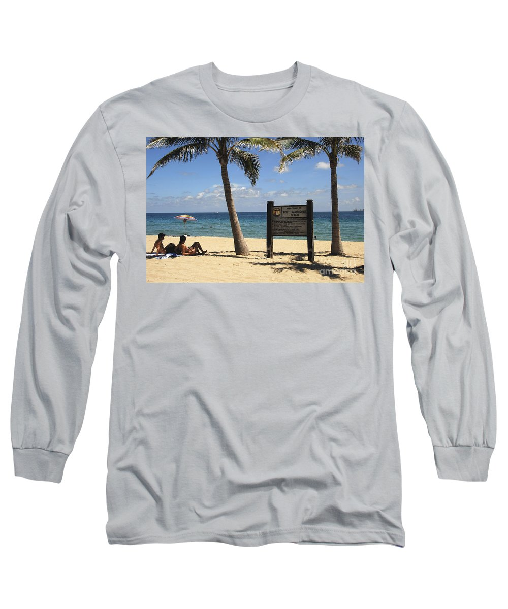 Fort Lauderdale Beach Florida Long Sleeve T-Shirt featuring the photograph Fort Lauderdale Beach by David Lee Thompson