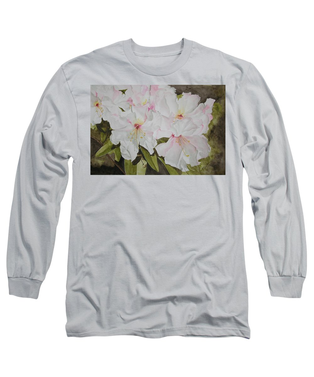 Flowers Long Sleeve T-Shirt featuring the painting Full Bloom by Jean Blackmer