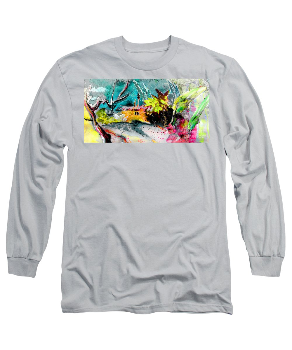 Pastel Painting Long Sleeve T-Shirt featuring the painting Glory Of Nature by Miki De Goodaboom
