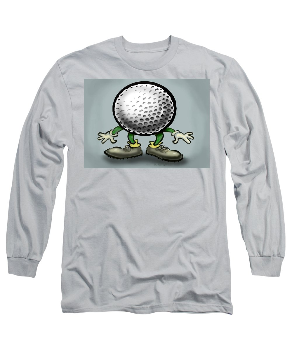 Golf Long Sleeve T-Shirt featuring the greeting card Golf by Kevin Middleton