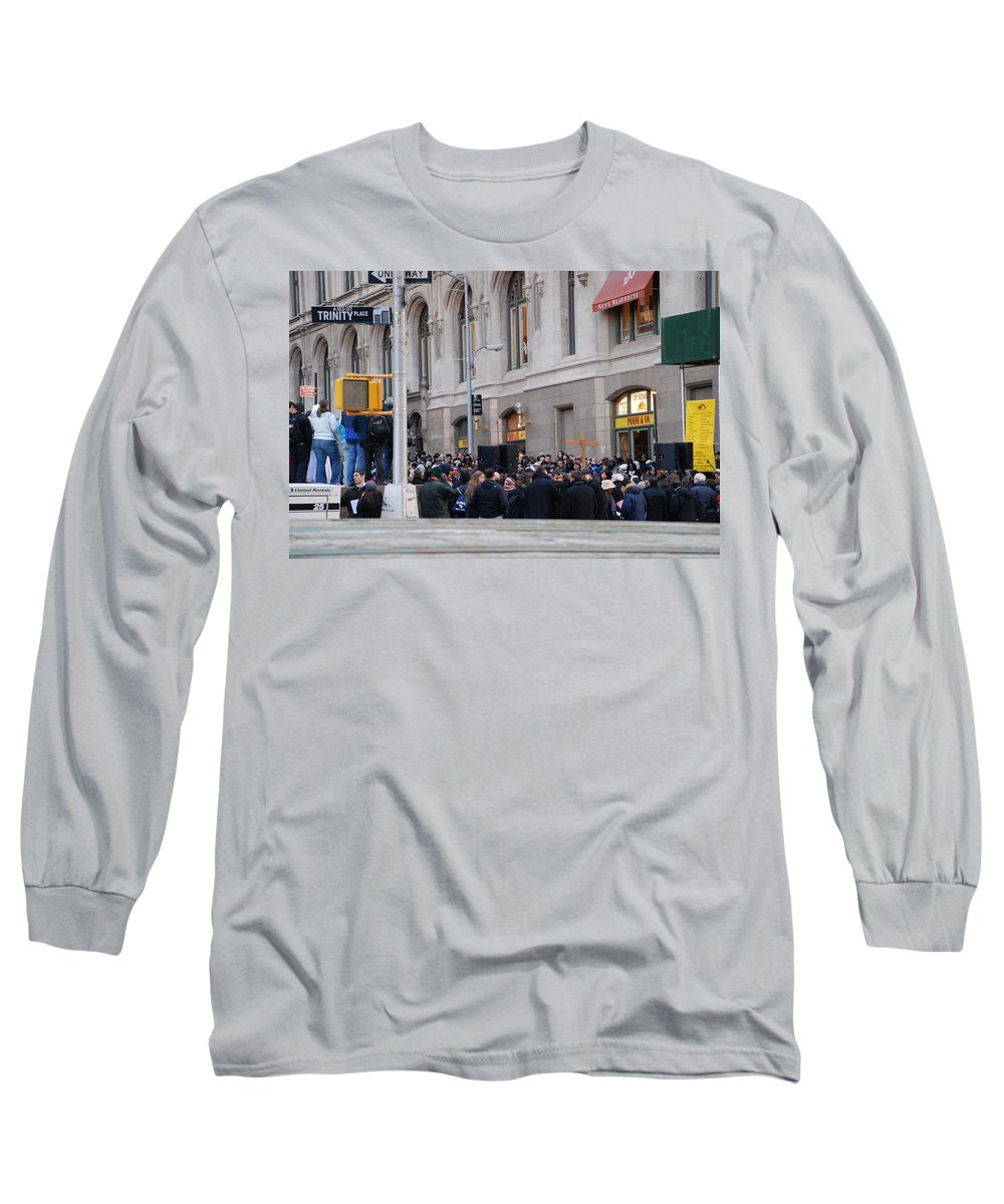 Church Long Sleeve T-Shirt featuring the photograph Good Friday On Trinity Place by Rob Hans