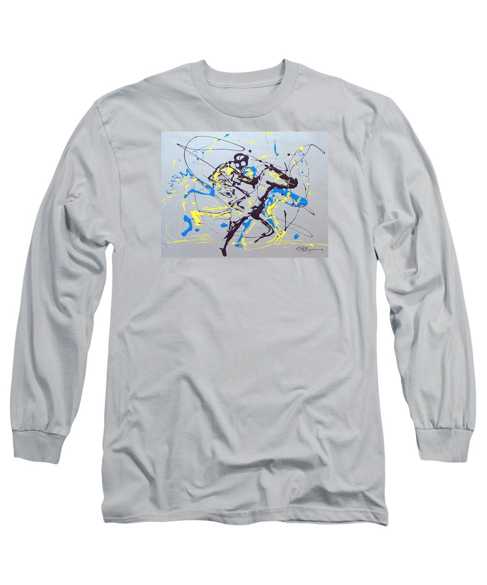 Kentucky Derby Long Sleeve T-Shirt featuring the painting Great Day In Kentucky by J R Seymour