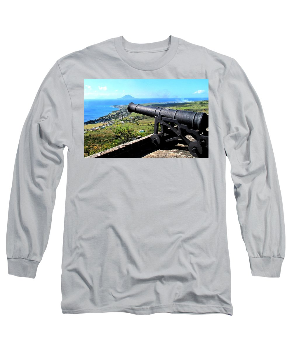 Brimstone Long Sleeve T-Shirt featuring the photograph Guarding The Channel by Ian MacDonald