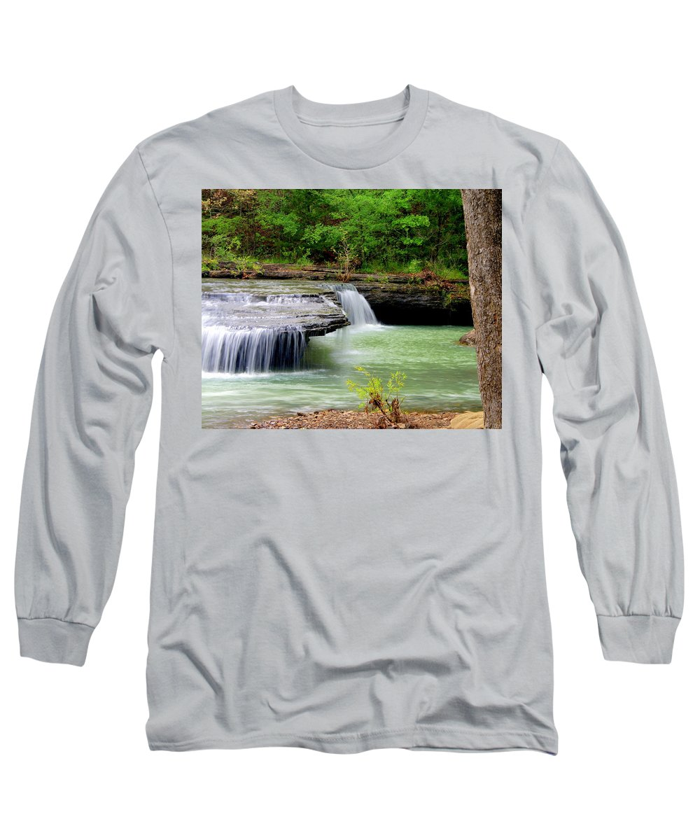 Waterfalls Long Sleeve T-Shirt featuring the photograph Haw Creek Falls by Marty Koch