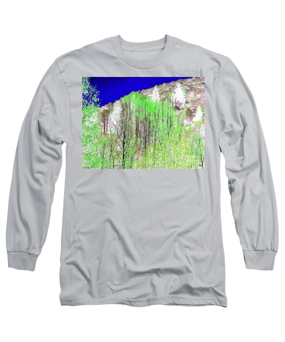 Impressions Long Sleeve T-Shirt featuring the digital art Impressions 12 by Will Borden