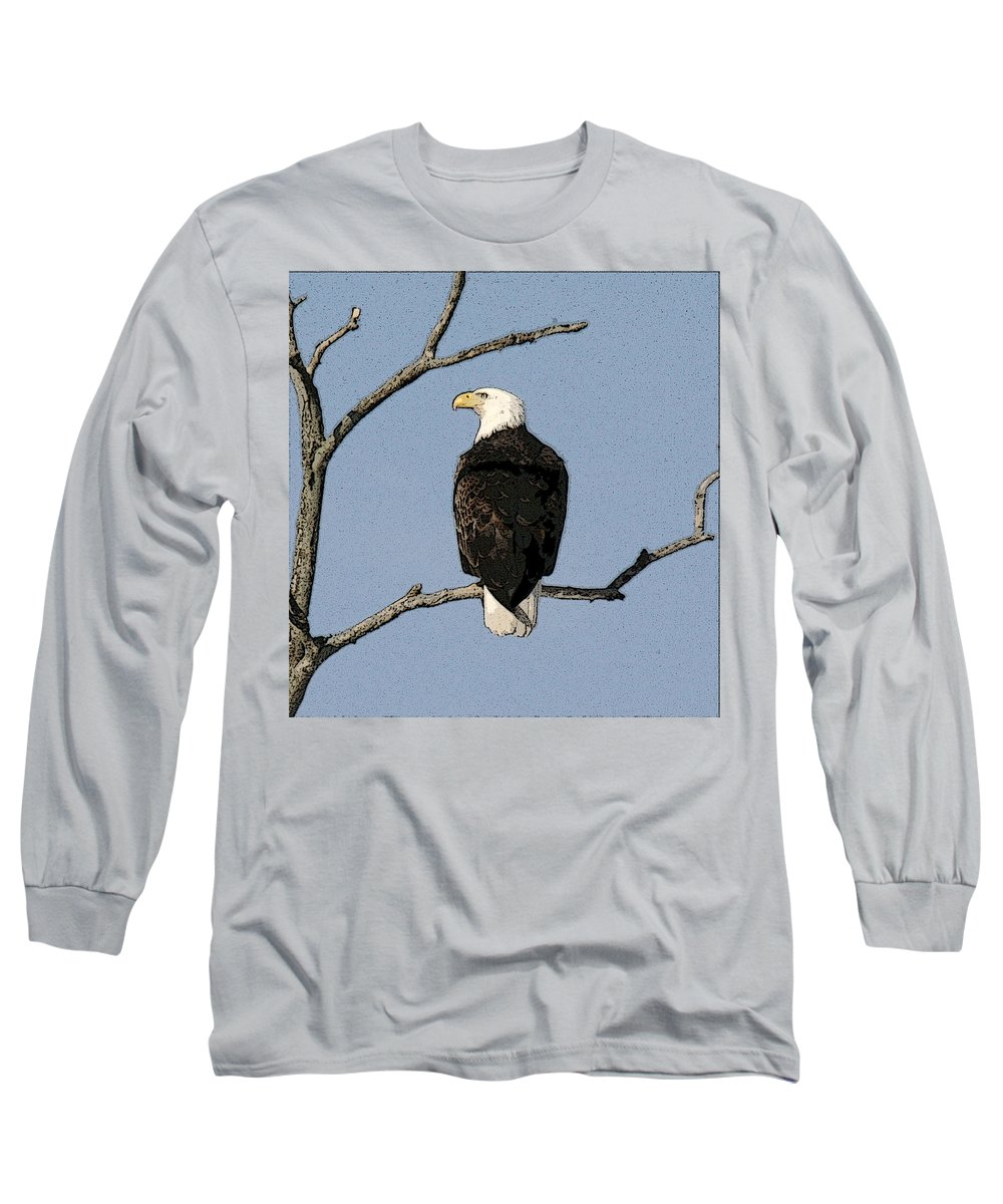 Eagle Long Sleeve T-Shirt featuring the photograph Look Out by Robert Pearson