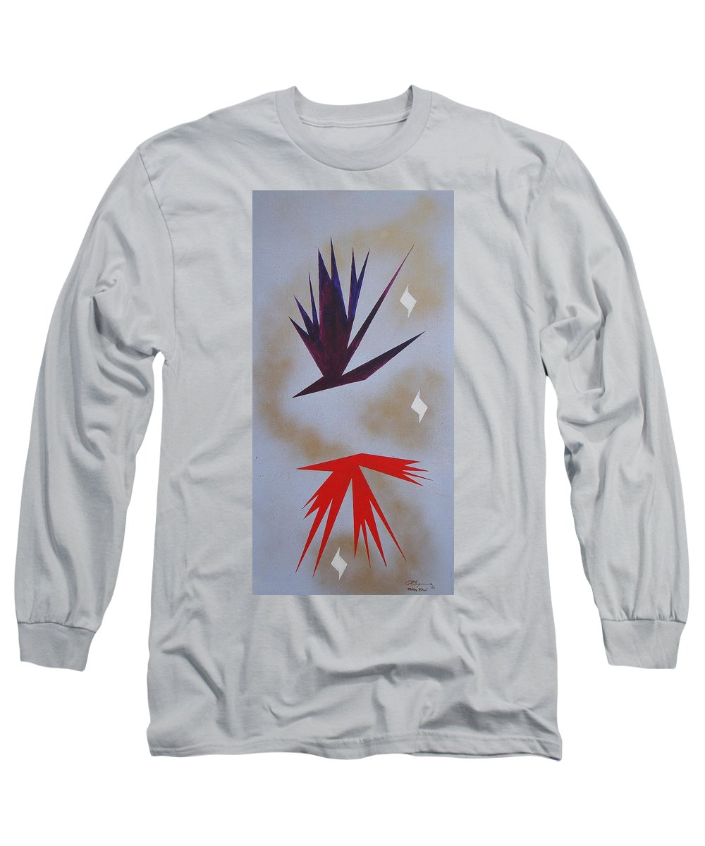 Birds Long Sleeve T-Shirt featuring the painting Mating Ritual by J R Seymour